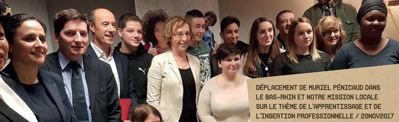 Une visite à la mission locale … déplacement de Muriel Pénicaud dans le Bas-Rhin sur le thème de l'apprentissage et de l'insertion professionnelle