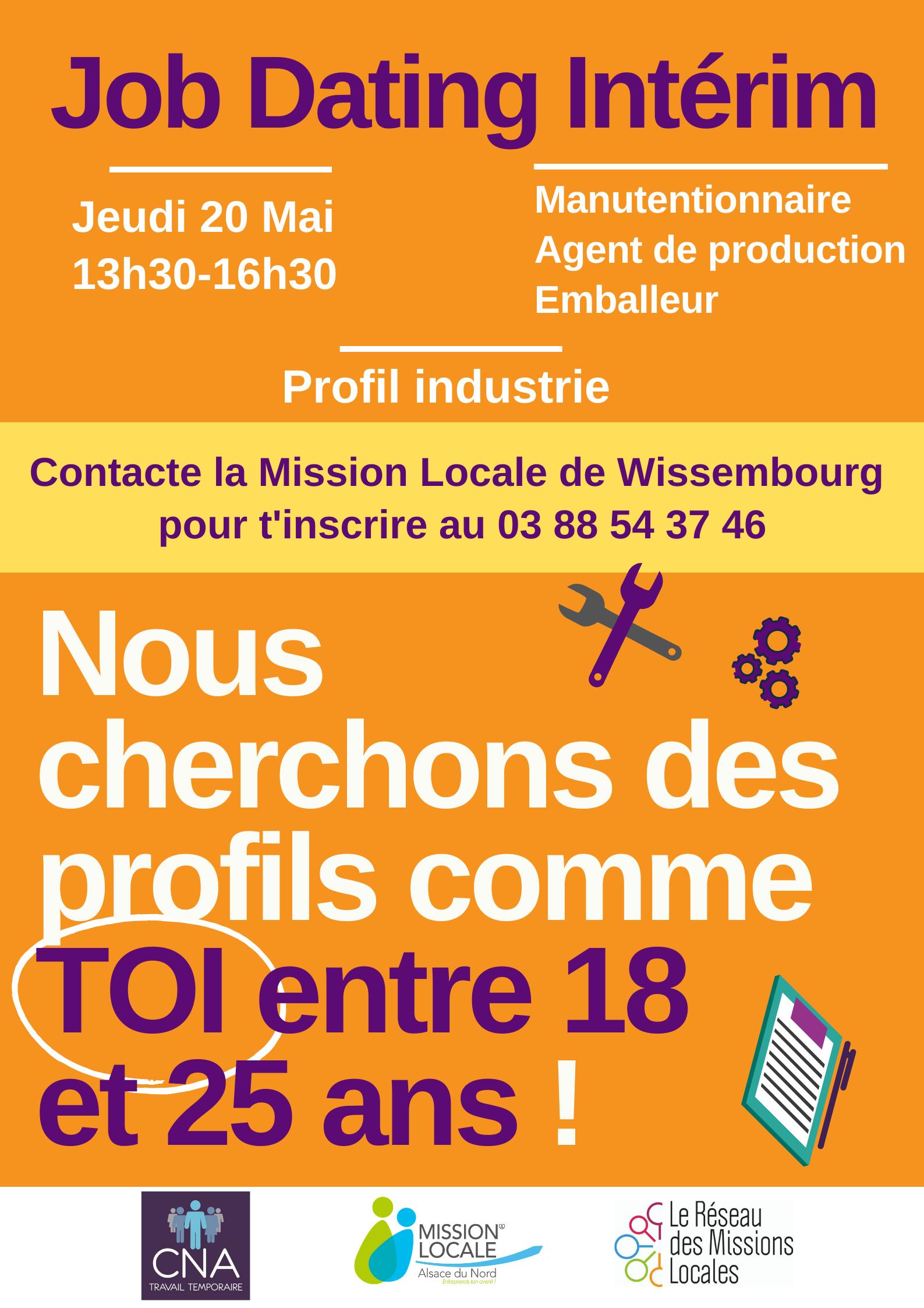 Job dating à la Mission Locale Alsace Nord